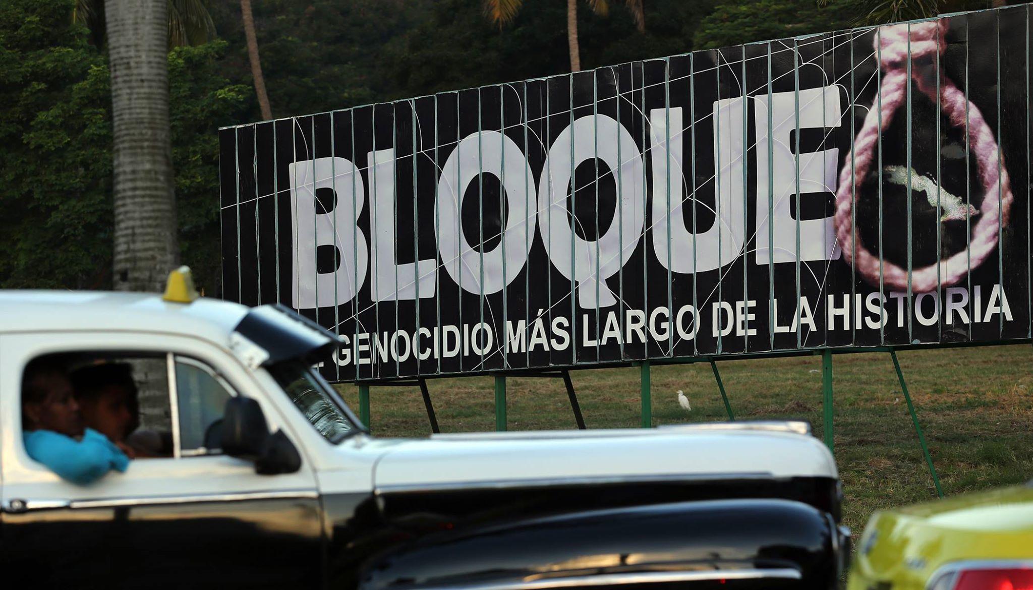 Los cubanos exigen frenar el bloqueo